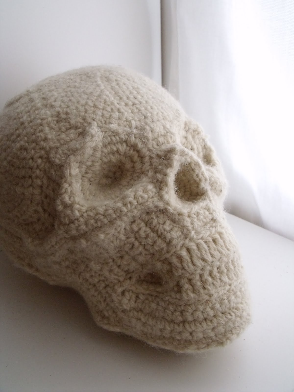 Human Skull Pillow