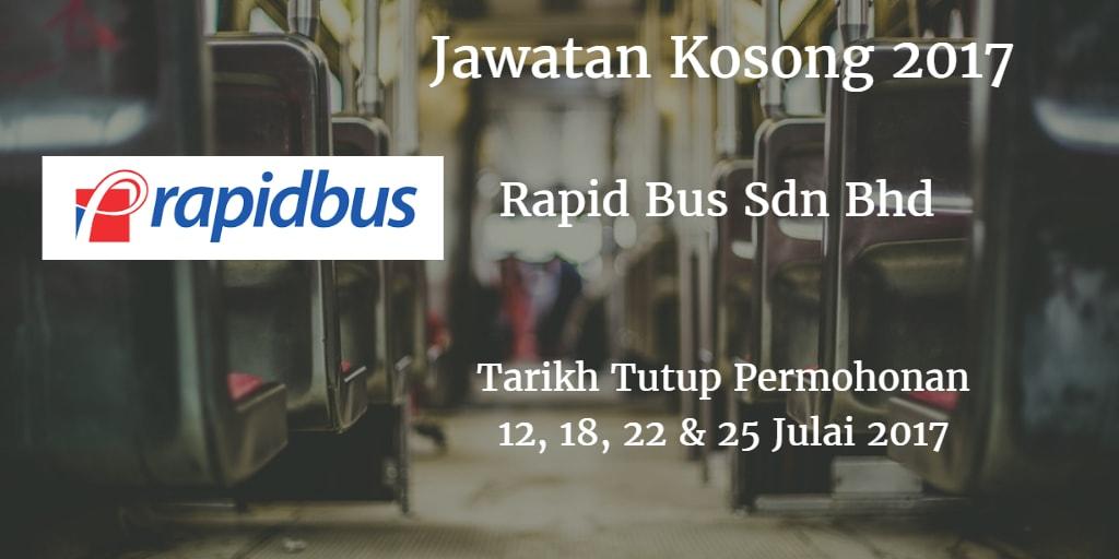 Jawatan Kosong Rapid Bus Sdn Bhd 12, 18, 22 & 25 Julai 2017