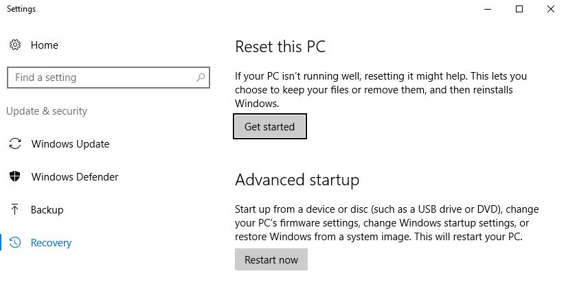 Cara Mengatur Ulang Windows