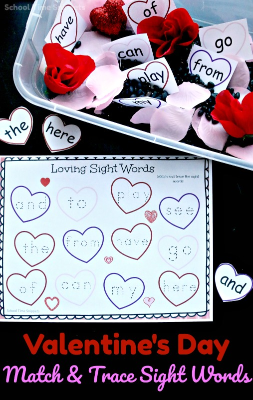 valentine's day sight word activity