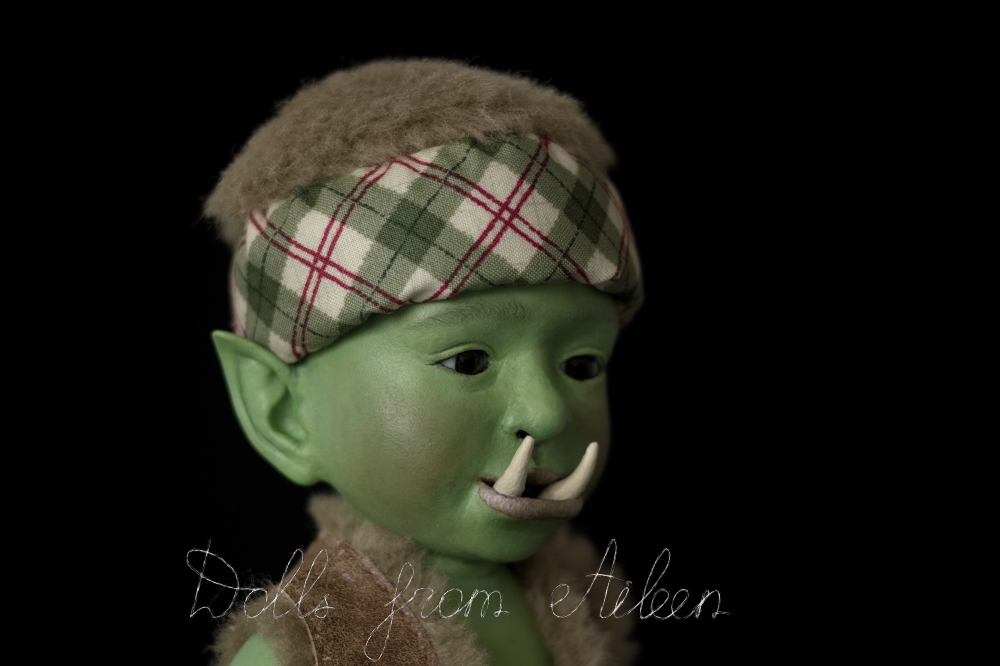ooak artist baby orc doll's face