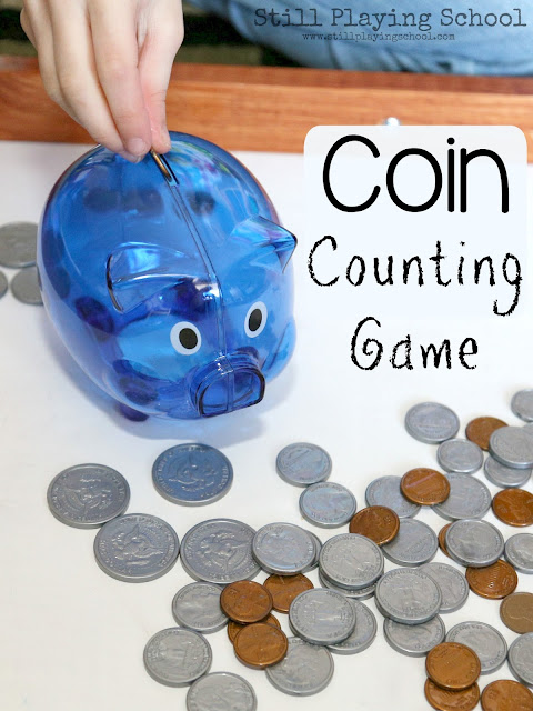 Whether you have a few siblings that you homeschool together or you are a classroom teacher trying to differentiate learning for an entire classroom of students, this is the perfect hands on math game to teach kids how to count coins and money!