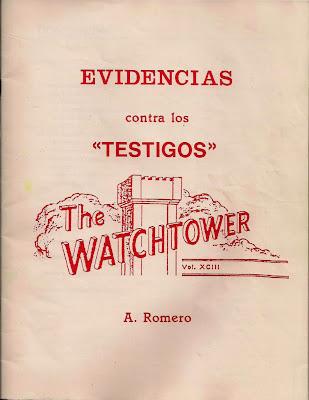 A. Romero-Evidencias Contra Los Testigos-
