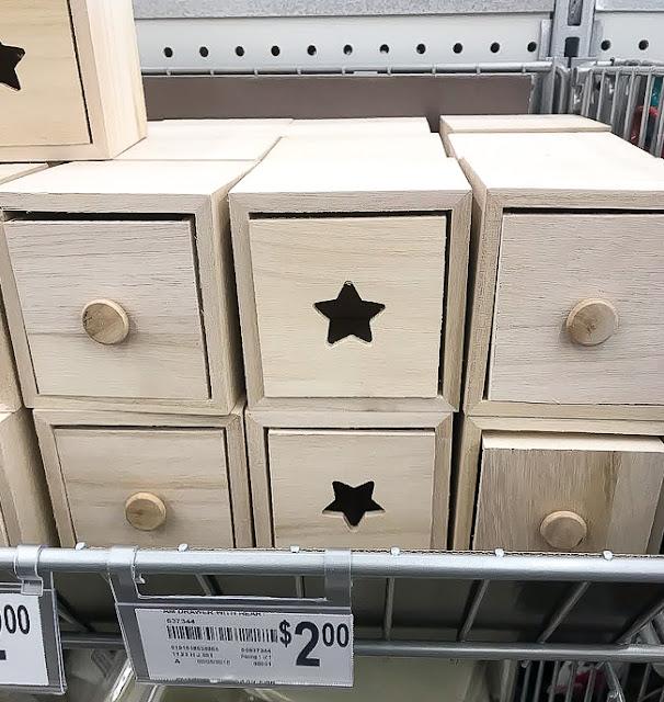 Wood storage drawers before