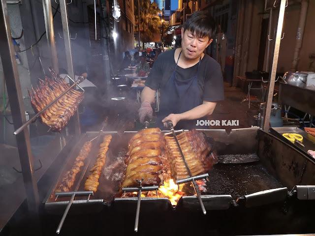 Chicken BBQ @ Meldrum Walk in Downtown Johor Baru Update 2019