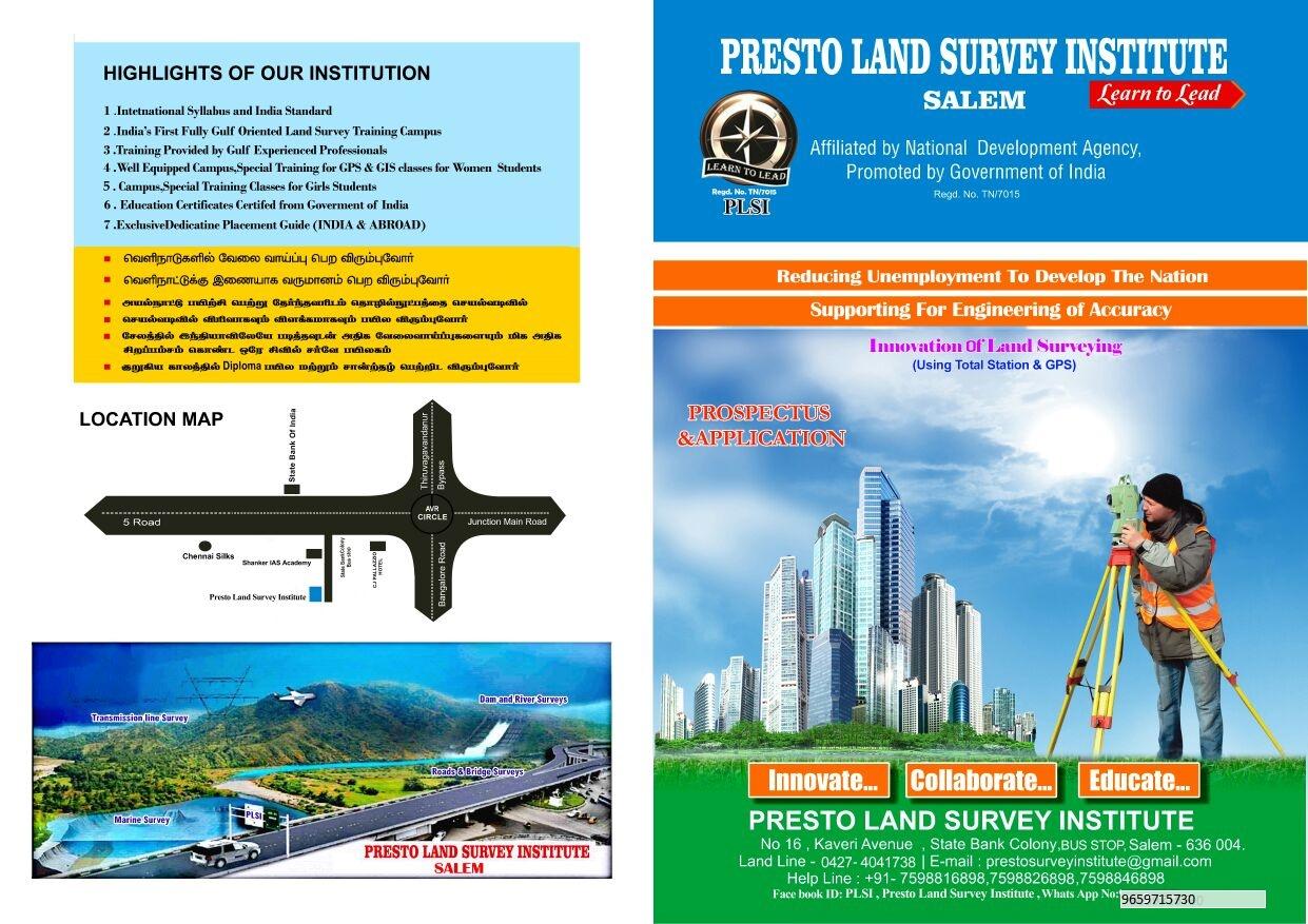 PRESTO LAND SURVEY INSTITUTE: PRESTO LAND SURVEY INSTITUTE