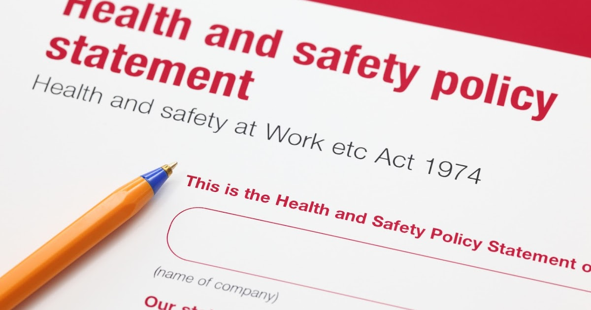health and safety policy health safety environment