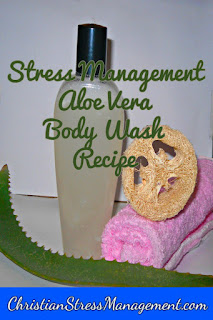 Stress management natural aloe vera body wash recipe
