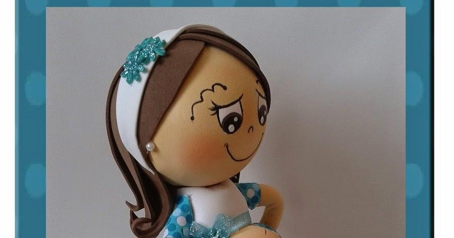 creaciones D Moni: fofu embarazada, para baby shower