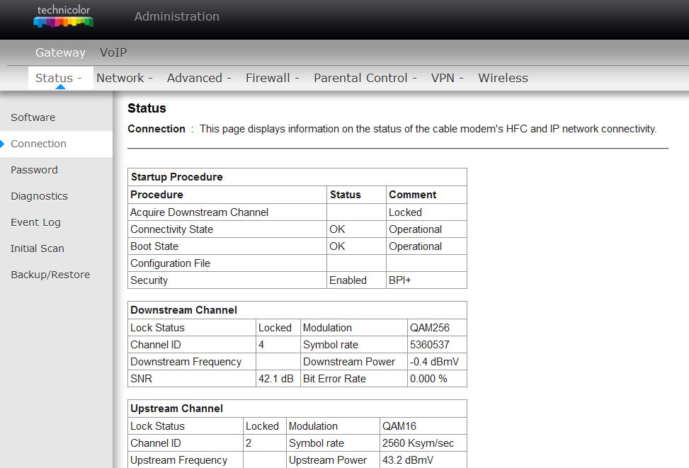 Acceder a configuración de modem technicolor TC7110 02   Bloggin Red