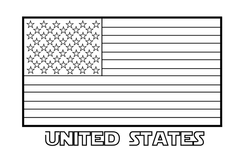 American flag coloring pictures for Idaho state flag coloring page