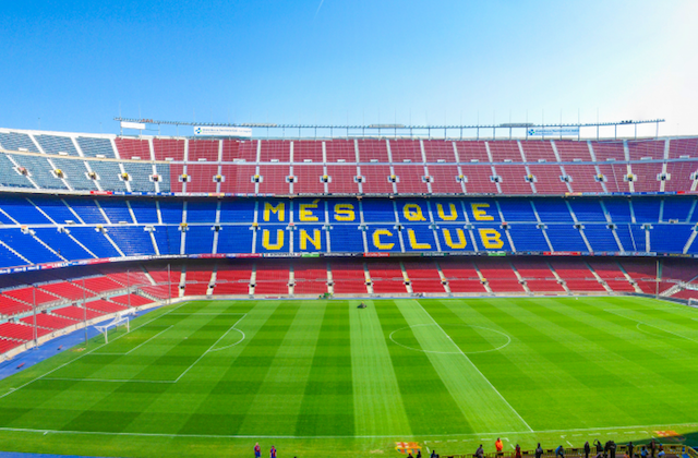 Camp Nou em Barcelona