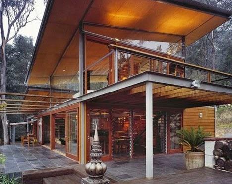 Desain Arsitektur Rumah Kayu Minimalis dan Modern