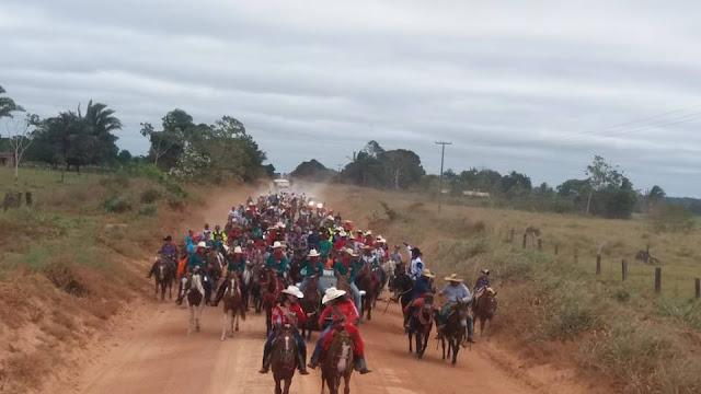 Com saída em frente a Fazendo do ex-prefeito de Nova Mamoré Laerte Queiroz