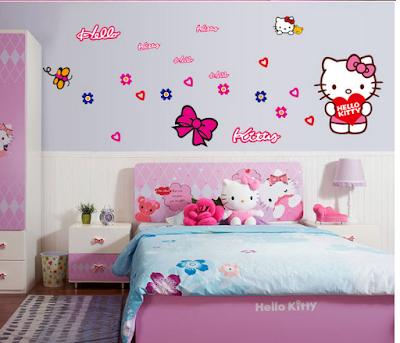 Trang tri phong ngu Hello Kitty dep 14