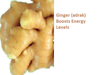 Ginger (adrak) Boosts Energy Levels