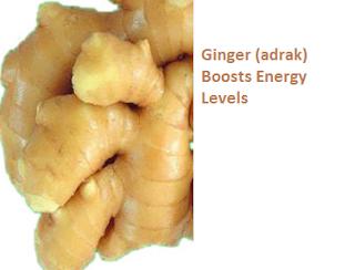 Ginger (adrak) Boosts Energy Levels