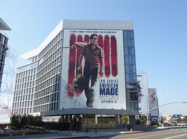American Made film billboard