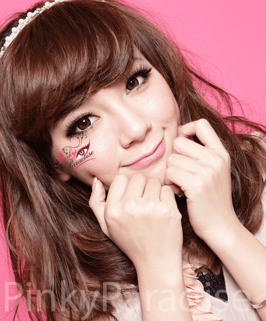 G&G Angel Ex Brown Circle Lenses (Colored Contacts) Model 2