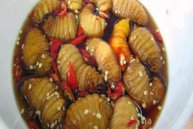 món nhậu độc lạ đuông dừa tẩm nước mắm