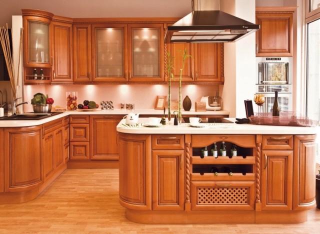 Кухни из дерева от производителя недорого