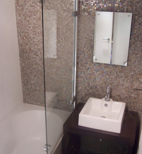Badezimmer design mosaik mit