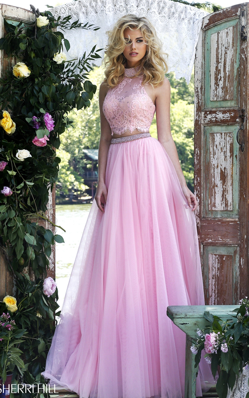 d5d01c70c703d www.girlpromsdress.com/pink-sherri-hill-32347-two-piece-lace-sexy-prom-dress -2016-p-485.html