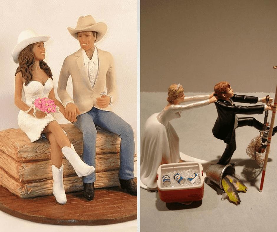 забавни фигурки за сватбена торта