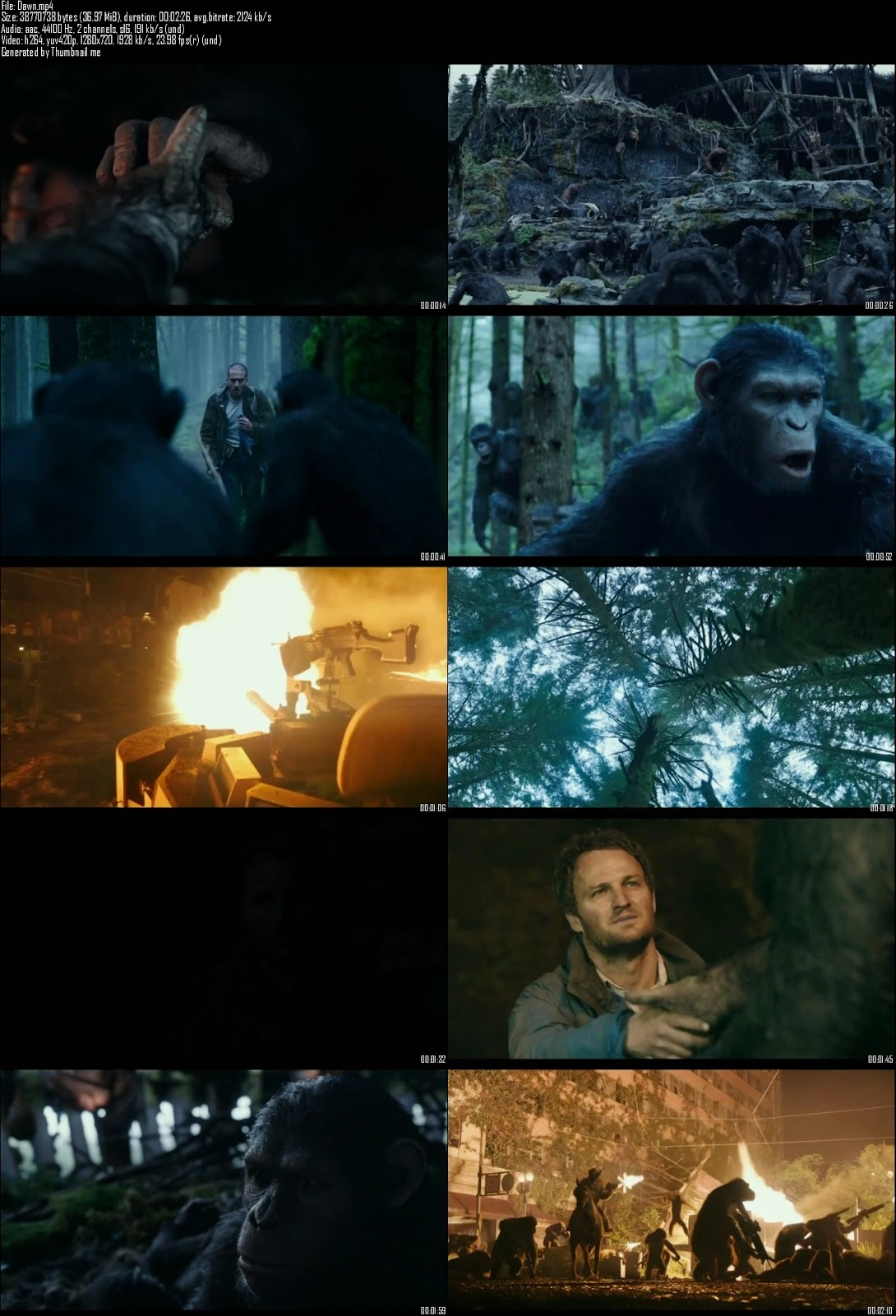 Single Resumable Download Link For Dawn Of The Planet Of The Apes (2014) First Look Promo HD