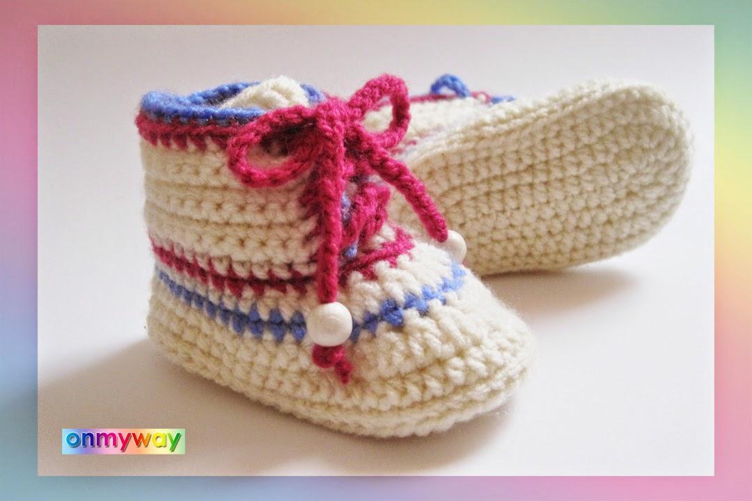 Baby, Schuhe, Booties, Boots, Schnürschuhe, häkeln, Anleitung