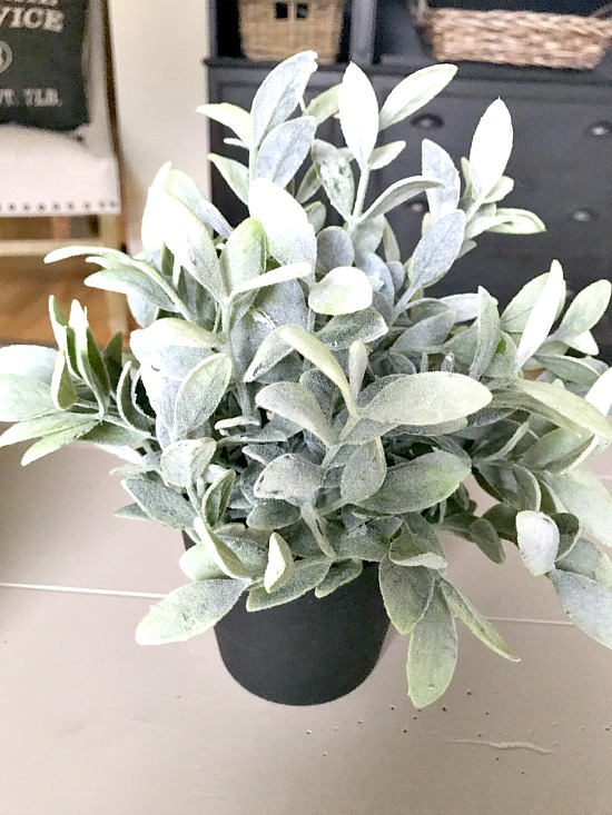 faux plant from IKEA
