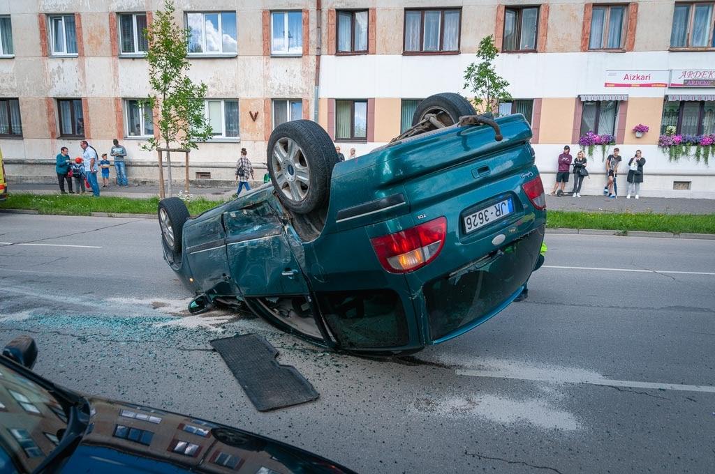 avārija Jelgavā 2