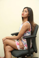 Nishi Ganda stunning cute in Flower Print short dress at Tick Tack Movie Press Meet March 2017 115.JPG