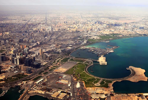 Doha city aeiral view