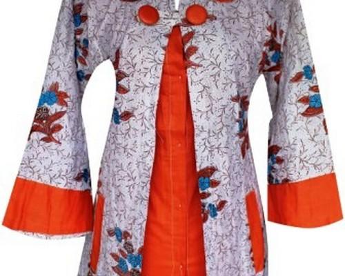 Model Baju Batik Kombinasi Terbaru Polos Kebaya Brokat