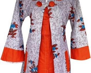 model baju batik kombinasi atas bawah