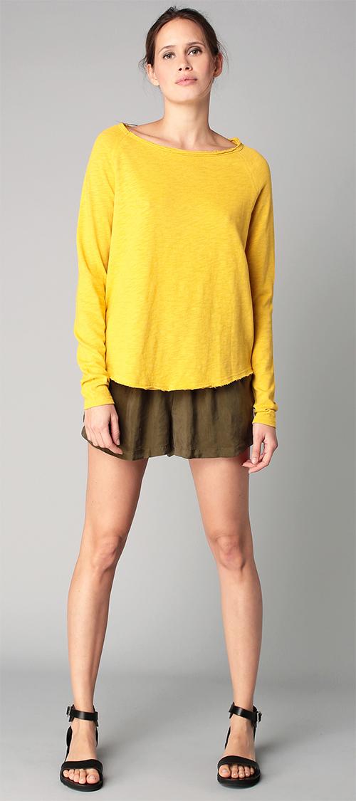 Pull femme jaune léger American Vintage