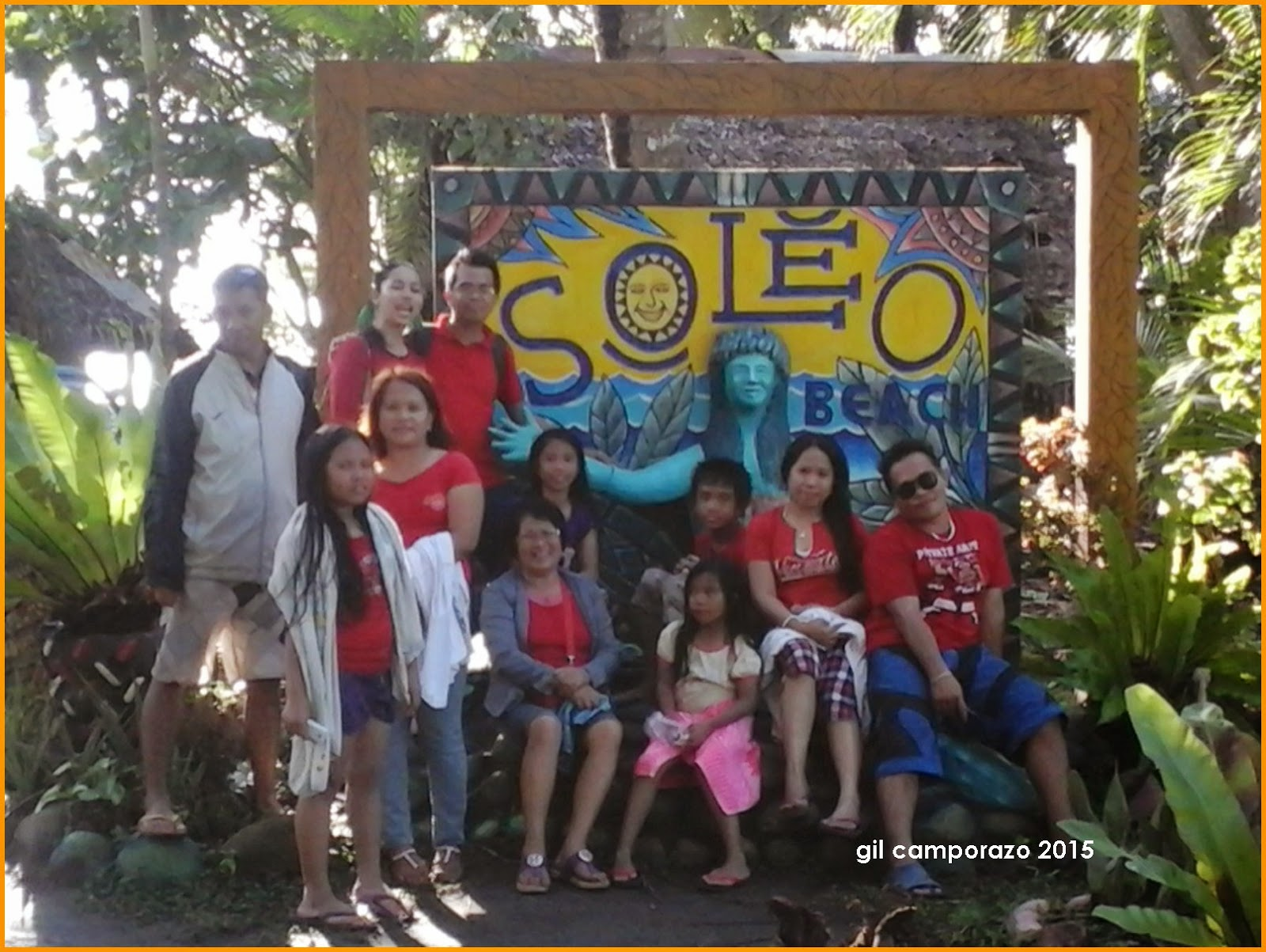 My family at Soleo Beach