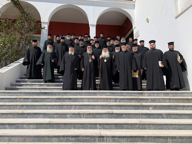 Ο Μητροπολίτης Αργολίδος Νεκτάριος στην Ιερατική Σύναξη της Ι.Μ. Κισάμου στην Κρήτη