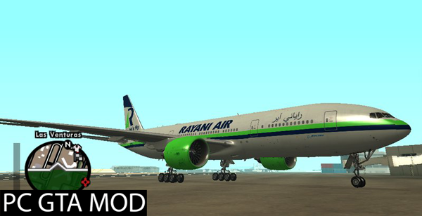 Free Download  Boeing 777-200ER Rayani Air Mod for GTA San Andreas.