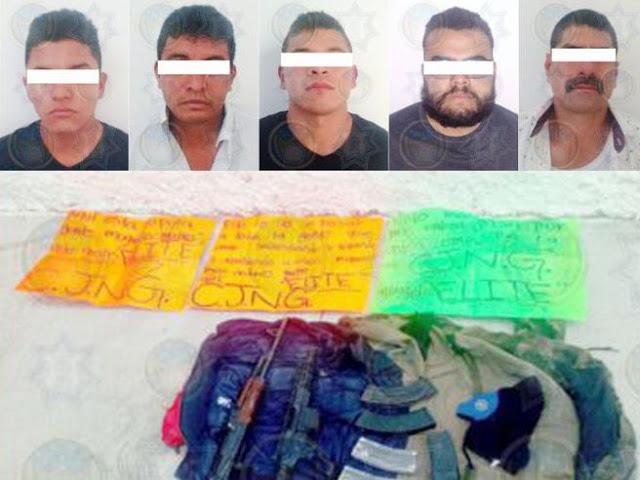 Caen 5 sicarios del CJNG en Irapuato, 2 son guatemaltecos