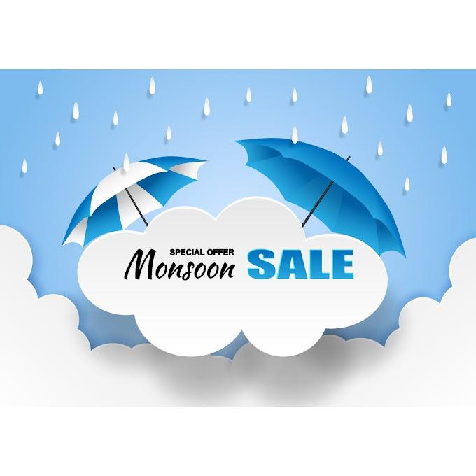 Rainy season specials advertising free vector