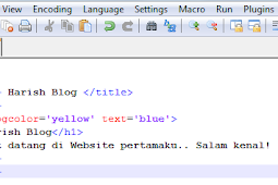 Cara Membuat Website Berbasis HTML Dengan Notepad++