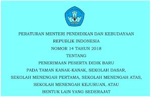 Petunjuk Teknis PPDB (Permendikbud 51 tahun 2018)