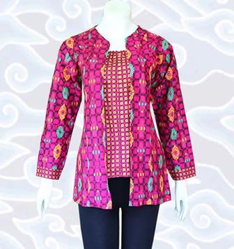 Model Baju Batik Seragam Guru Lengan Panjang