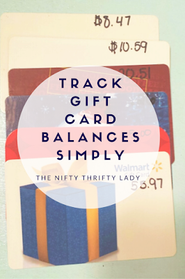 How to Track gift card balanes