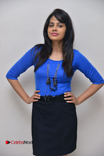 Actress Nandita Swetha Stills in Black Mini Skirt at Ekkadiki Potavu Chinnavada Movie Special Show  0055.JPG