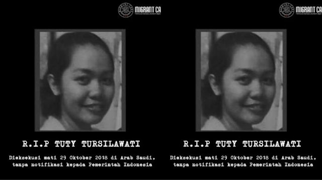 TKI Tuti Tursilawati Dieksekusi Mati tanpa Pemberitahuan, ICJR Desak Jokowi untuk Tegas pada Saudi