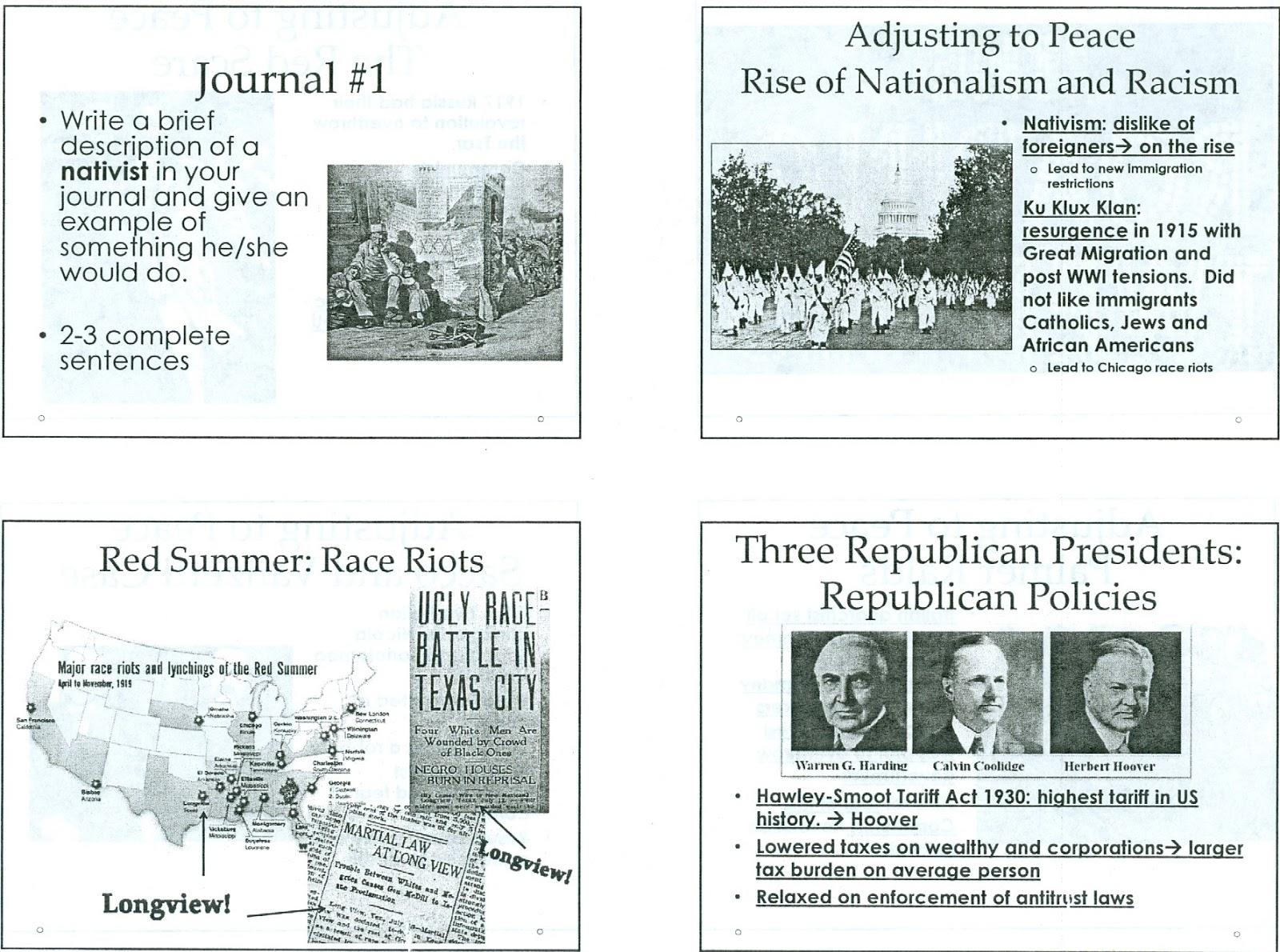Mr E S U S History Page Unit 7
