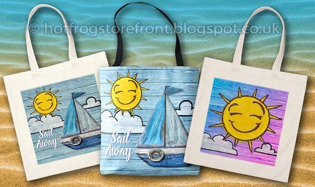 Photograph of 3 Tote bags Driftwood Beach design